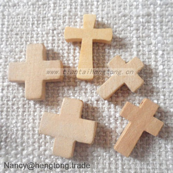 Wholesale customized catholic unfinished polishing small for Wooden craft crosses wholesale