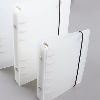 Fashional style 6 hole ring plastic spiral clip file folder a4 binder