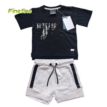 Wholesale Summer Short Sleeve Cotton Boutique Kids Clothing For Boy