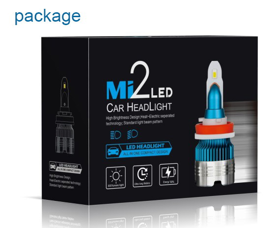 MINI LED headlight MI2 all in one design 24w 3000lm h4 h7 h11 h13 light bulb auto parts led headlight