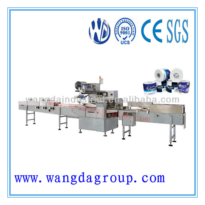 Long-time Supplying and Easy Operation kitchen Towel/ toilet roll packaging machine for Single Roll With Good After-Service
