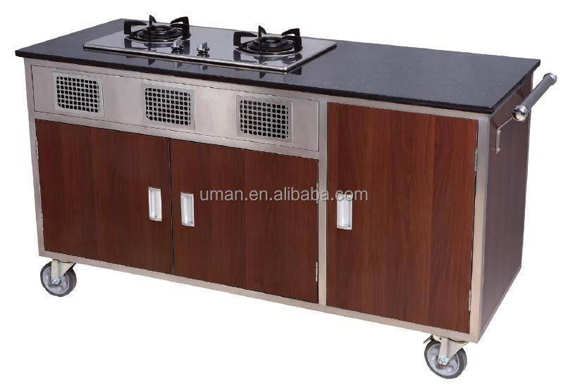 Hotel Mobile Kitchen Carts-flambe Cooking Cart - Buy Kitchen Carts,Mobile  Food Cart,Trolley Cart Wooden Product on Alibaba.com