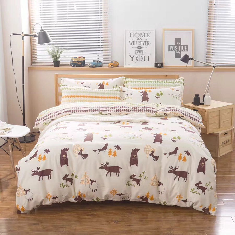 popular animal bed sheets for kids buy cheap animal bed sheets for kids lots from china animal. Black Bedroom Furniture Sets. Home Design Ideas