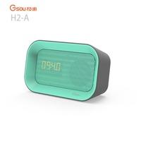 Gsou 2017 new alarm clock bluetooth speaker with FM radio LED time display