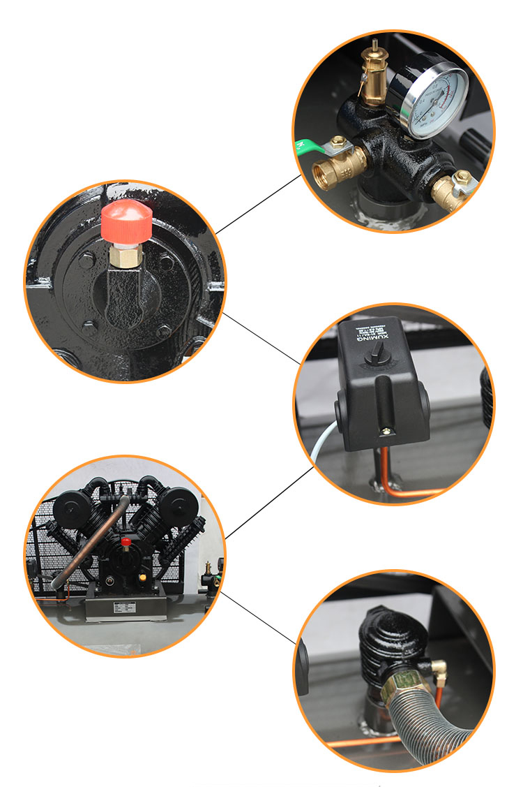 7.5kw/10hp 500L piston air compressor Two Stage air compressor