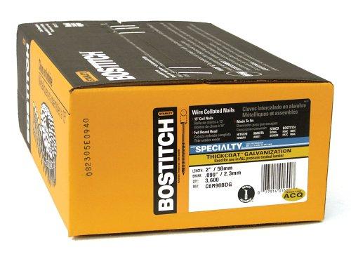 2 In,PK3600 BOSTITCH C6R90BDG Siding Nail