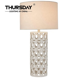 fabric shade E27 bedside desk light bedroom table lamp for hotel home