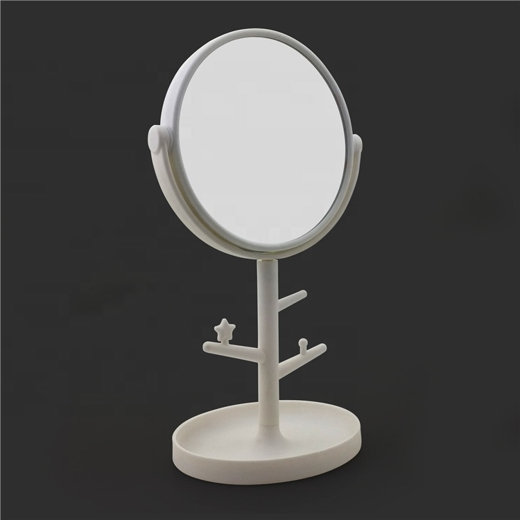 Girls modern dressing table with mirror,simple rotating dressing table with mirror