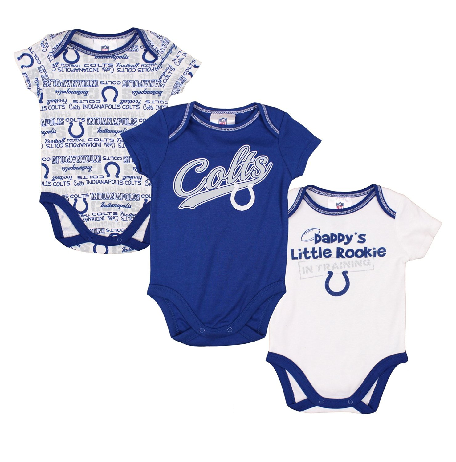 Buy Indianapolis Colts NFL Baby Boys 3 Pack Short Sleeve Bodysuit ... d6a926aa0