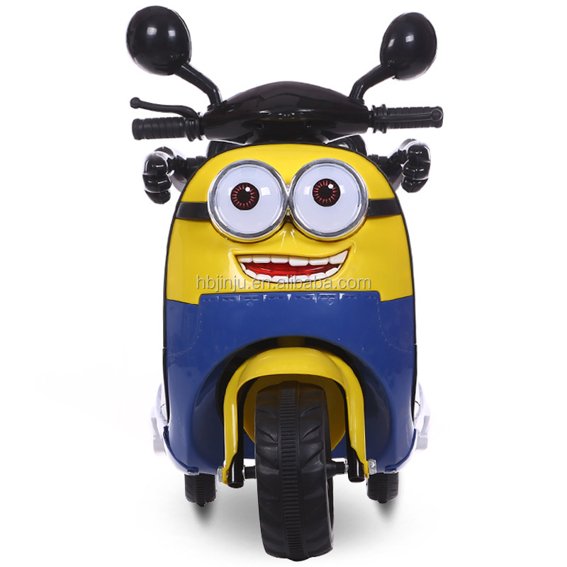 Cheap Minions electric toy car 12v baby motorcycle for babies and kids