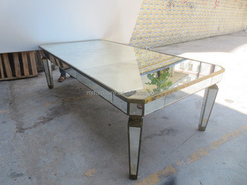 Superieur Big Mirrored Dining Table For Rent/wedding