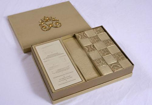 D257 Luxury Royal Muslim 2 In 1 Cardboard Wedding Invitation Box Indian