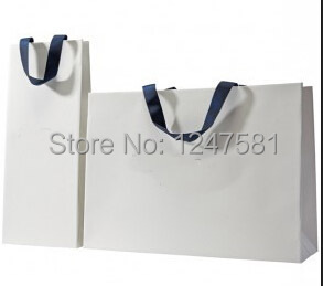 2014 white paper bags with black rope handles / High ...