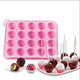 20 Cavity Heat-Resistant Customized designs Round Shape silicone chocolate mould candy mold