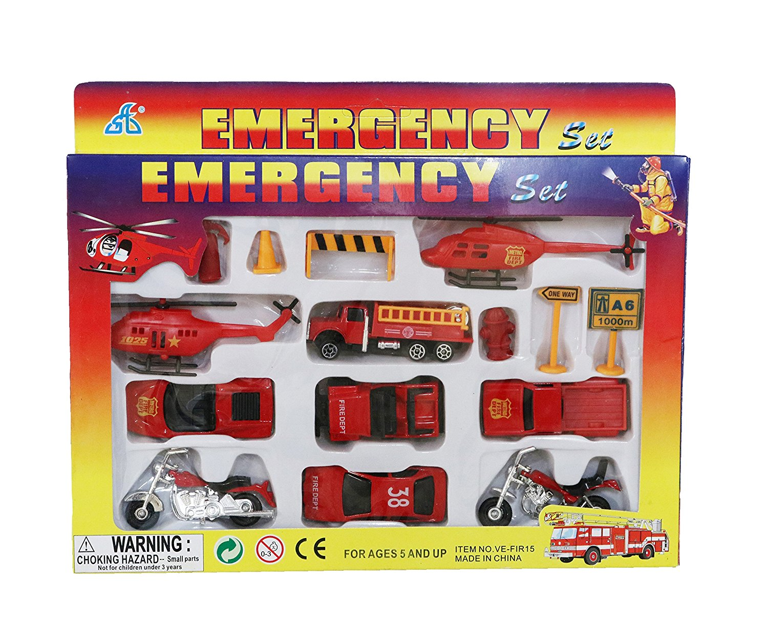 Buy Fire Fighting Toy Set Of Trucks Cars And Helicopters Exciting