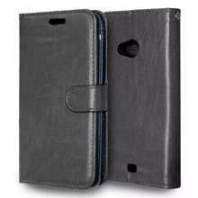 For Nokia Lumia 535 Leather Case Flip Wallet Cover Stand Function With Magnetic Buckle Card Slot Mobile Phone Case