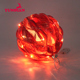 Xmas Tree Decorative Hanging Ornaments Bauble Big Round Red Led Lights Glass Christmas Ball For Party Wedding Decoration