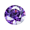 Synthetic Round Amethyst CZ Gemstone For Earring