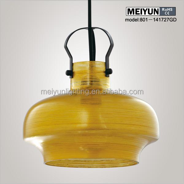 Italian Hand Blown Gold Glass Pendant Light Led Glass Hanging Lamp ...