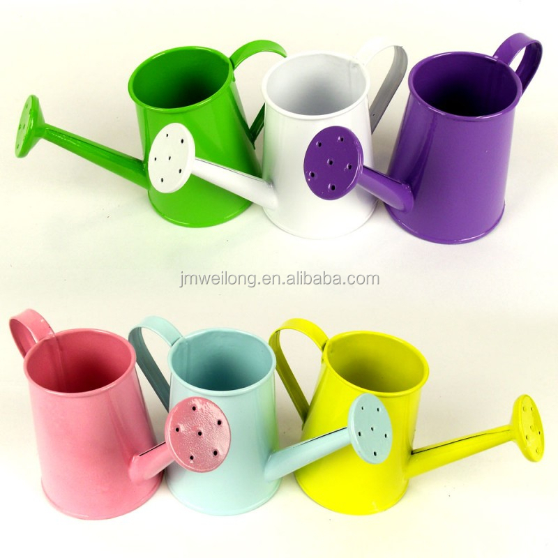 Colorful Mini Garden Metal Watering Can