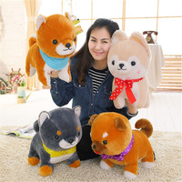New Cute 1 pcs Big 40cm Amuse Dog 4 Brothers Plush Toys Shiba Inu Toy High Quality Soft Stuffed Loyal Pet Kawaii Puppy Kids Gift