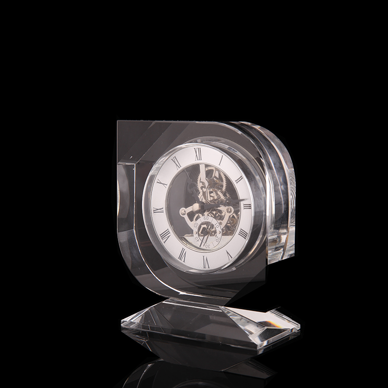 New model table clock crystal material  crystal souvenir clock