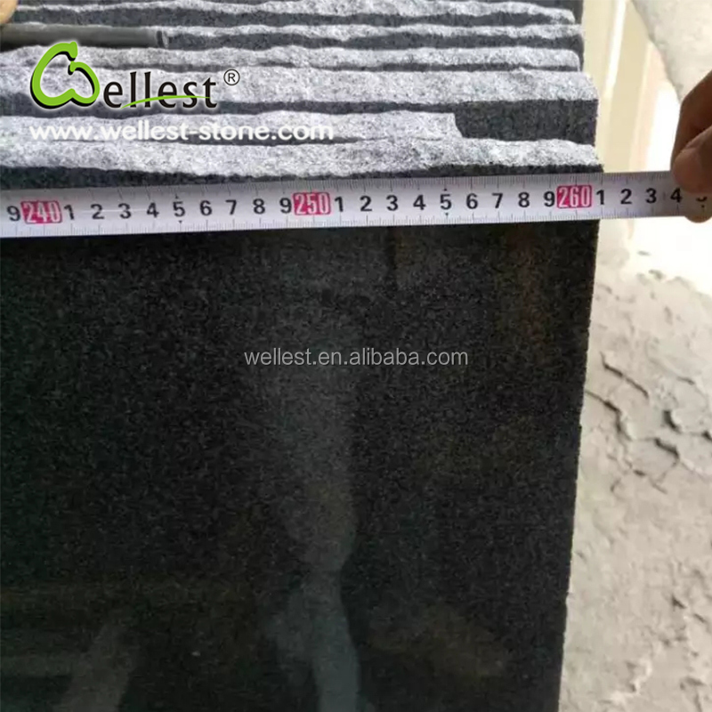 Hot Selling Best Price Polished Surface Random Edge Black Granite Small Slab