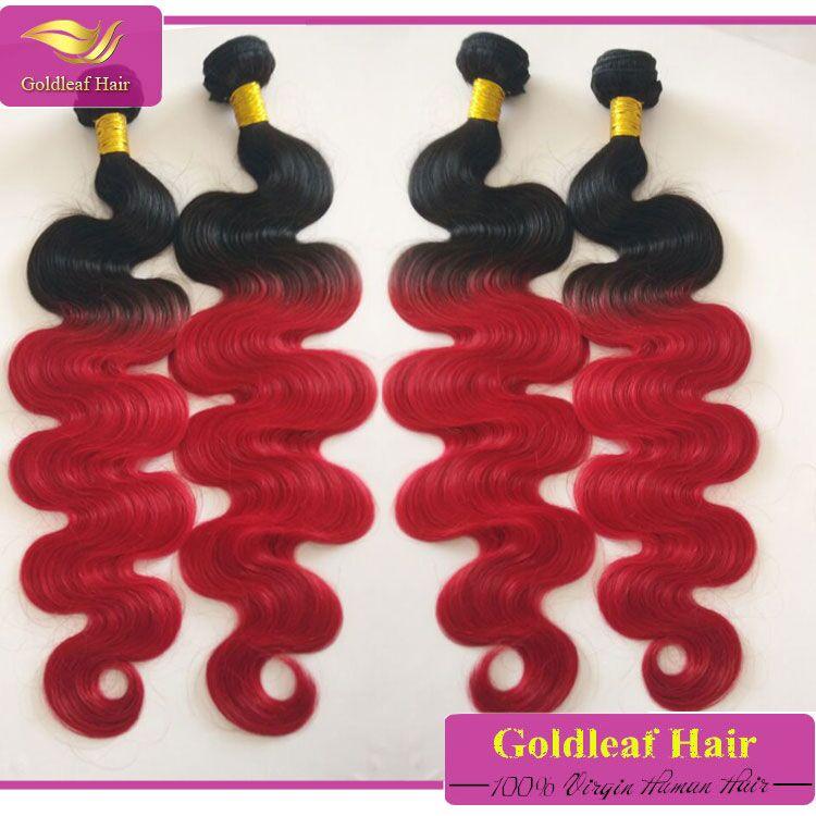 Dye Hair Color Two Tone Hair Weave Bundles Popular Brazilian Body