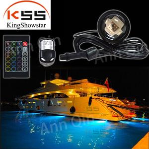 high lumen RGB RF control led underwater boat marine lights made of  aluminum alloy ocean submarine yacht light seawater lights