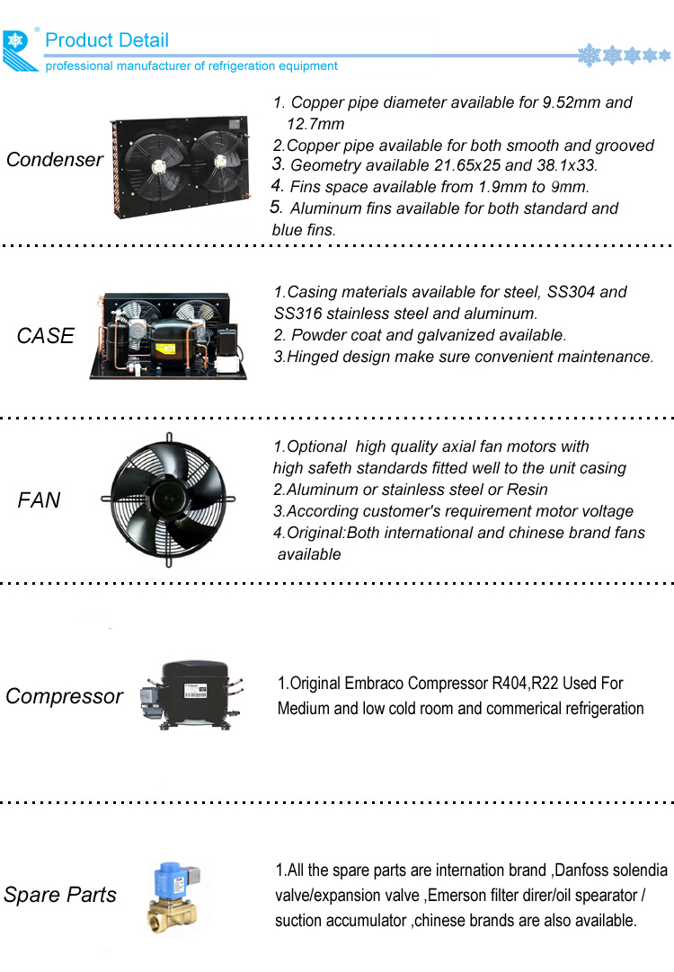Embraco Compressor Condensing Unit For Cold Room Valve Air Pressor On Industrial Gas Diagram Equipped With Yk Series High Pressure Switch Quality Filter And Throttling Capillary Tubes Which Is Easy Customers To Install Use