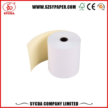 2 ply ncr receipt paper roll printable carbonless paper in stock