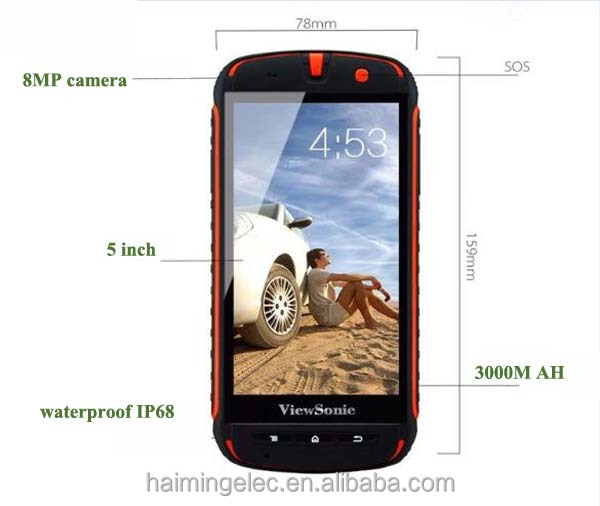 factory stock waterproof rugged smart phone 5 inch CDMA+GSM 150PCS IN STOCK