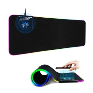 New Fashion 3 in 1 Fast 10W Wireless Charging Keyboard Mat RGB LED Light Gaming Mouse Pad with Wireless Charger
