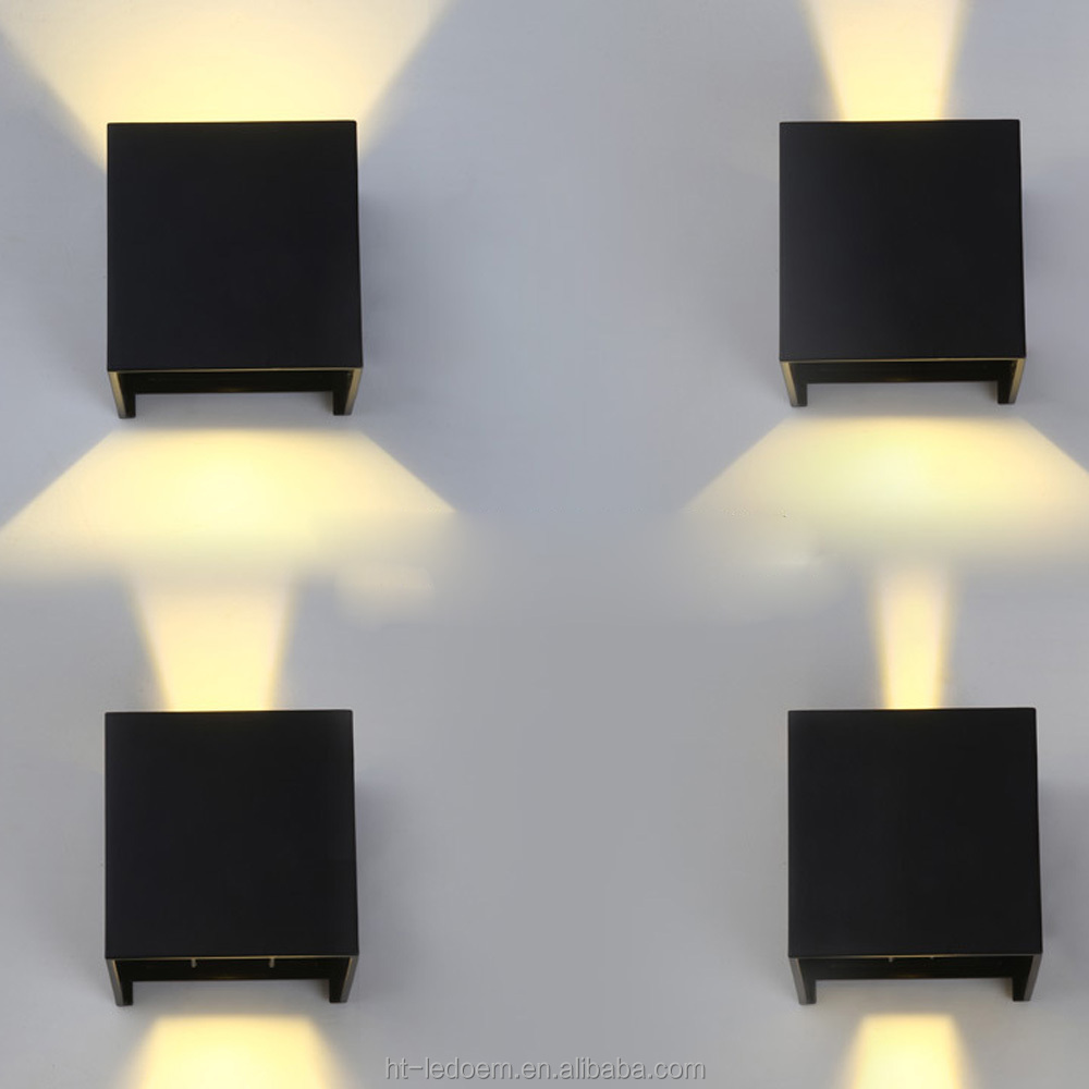 7W 10*10cm outdoor Modern minimalist square shape Aluminium LED wall lamp