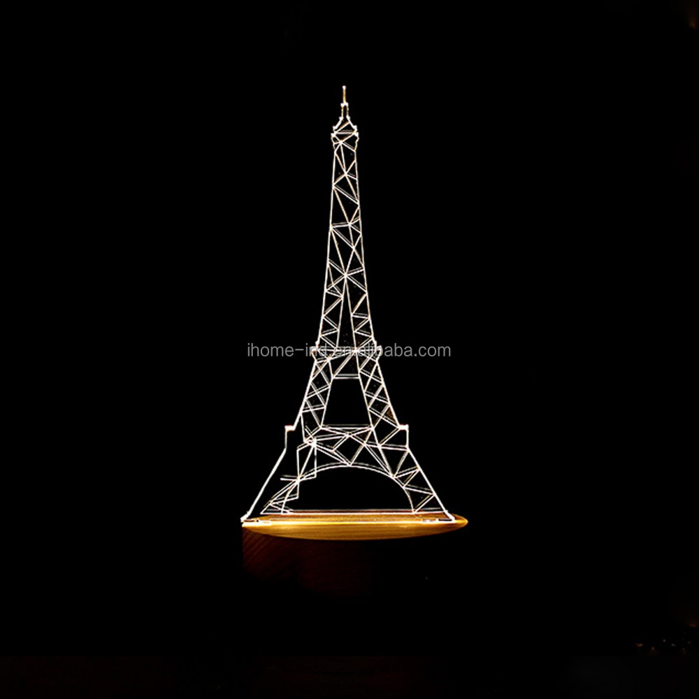 Eiffel Tower 3D Led Lamp Decorative Night Light USB Table Lamps for Kids
