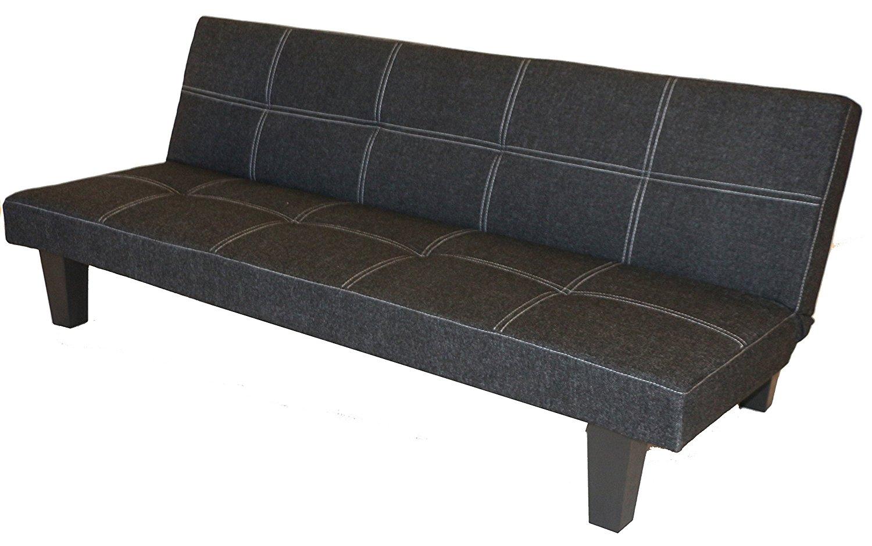 Get Quotations Grey Cloth With Adjule Back Klik Klak Sofa Futon Bed Sleeper Convertible Quality Lodge S269