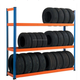 Four High Metal Material Tire Rack High-Quality Tire Shelves Display Rack Tyre