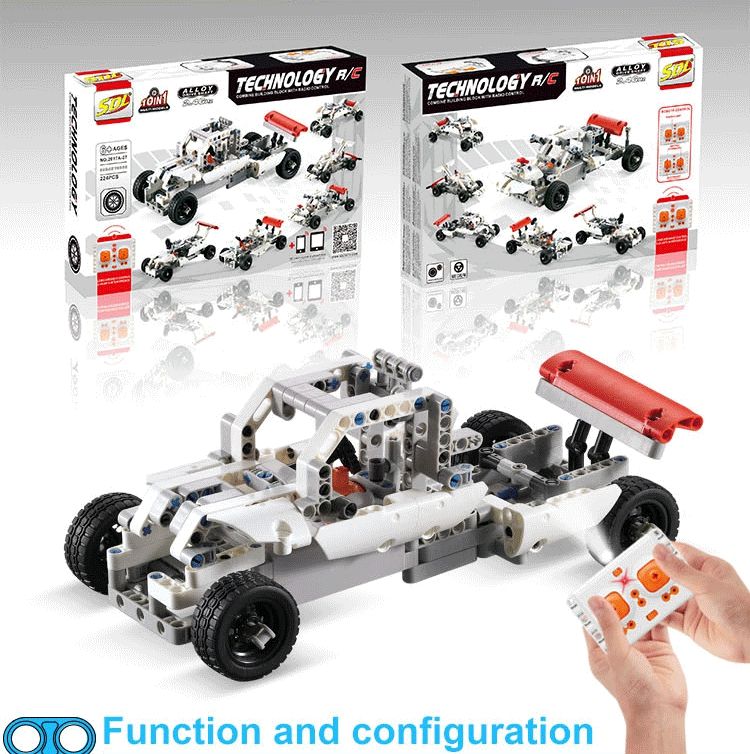 New Arrival Flytec 2017A-27 Educational Toys Remote Control DIY Bricks car Building Blocks Rc Car Set for Kids