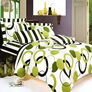 Blancho Bedding - [Artistic Green] 100% Cotton 3PC Sheet Set (Twin Size)
