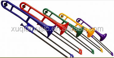 XTB1001 Plastic colored red yellow trombone