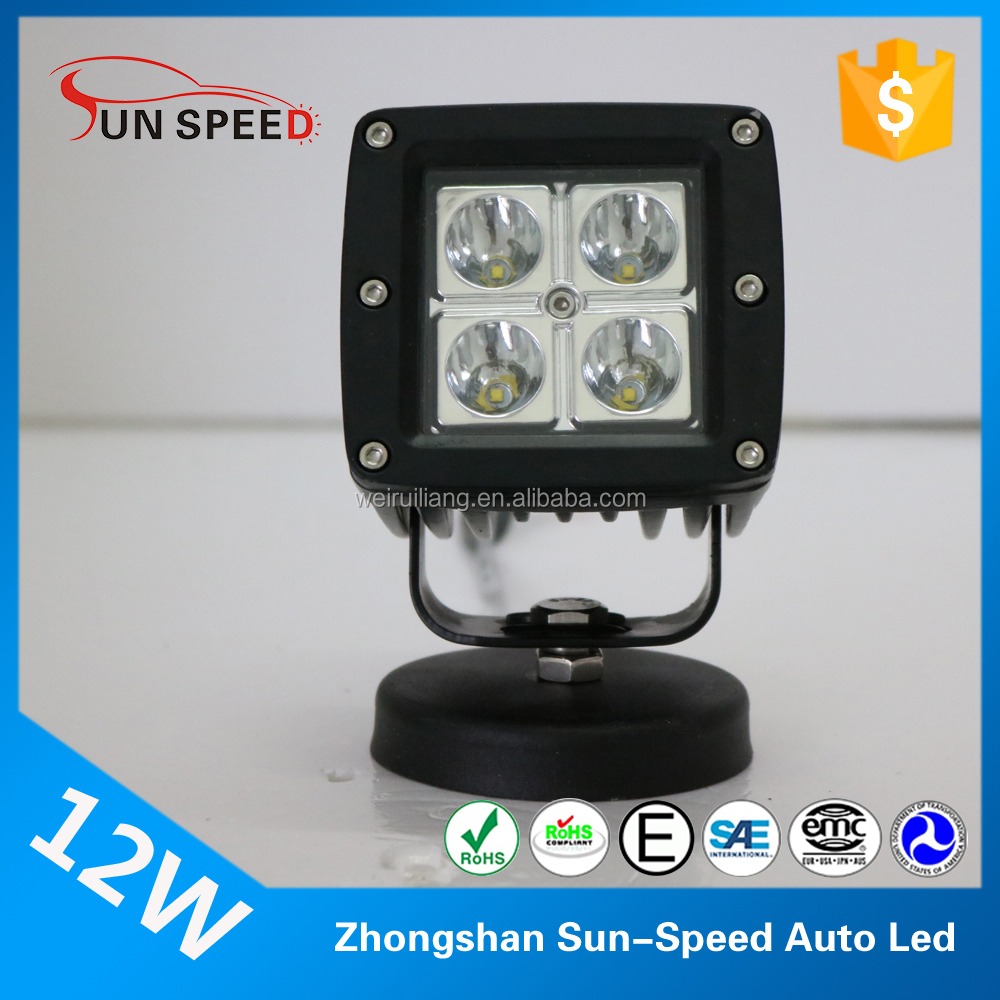 4x4 accessories 3 inch work light 12watt ,IP 68 waterproof front bumper light
