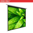 Best 120 Inch Indoor Wall Home Video Screens Motorized Silver Projection Screen Fabric