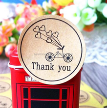 White Packaging Sticker Thank You Labels Wedding Birthday Food Package Labeling Printing