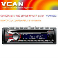 car stereo black box/ one din car DVD player mp3 FM USB SD MMC card player