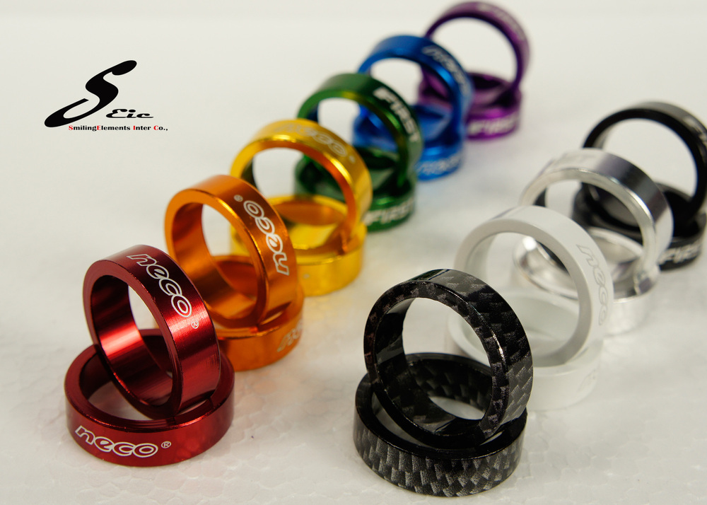 Bicycle parts colorful Fixed gear spacer ; 10 mm spacer