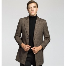 winter Formal fleece wool coat business thick wool coat