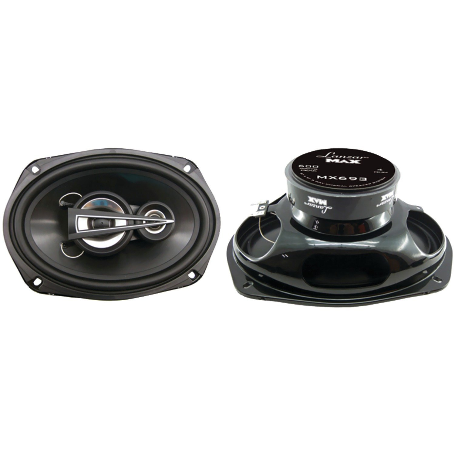 7 kHz Frequency Response 30 Oz Magnet Structure 4 Ohm w// Glass Fiber Cone and Butyl Rubber Surround High Power Coaxial Speaker Powerful 400 Watt Peak 65Hz Lanzar Upgraded Opti Pro 6.5 OPTI6PM,BLACK
