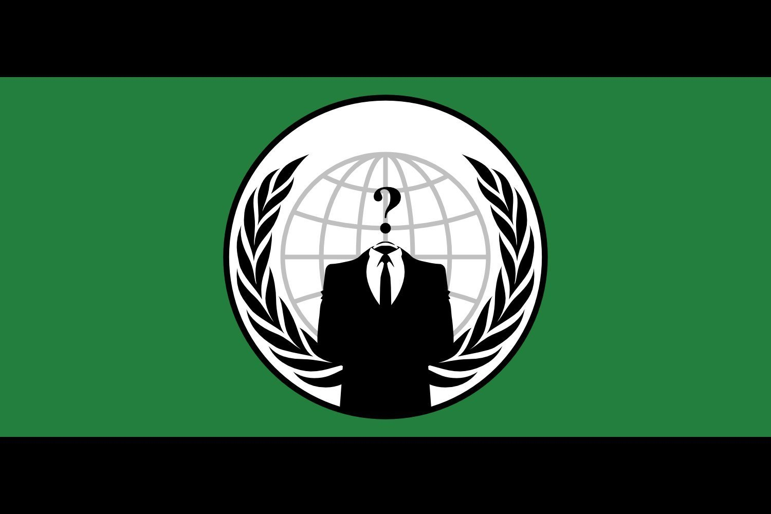 Table-Flag / Desk-Flag: Anonymous | De facto flag for the Anonymous group | Principal drapeau/logo du groupe Anonymous | Facto de Anonymous | Anonymous-Gruppe | Dell organizzazione Anonymous 15x25cm