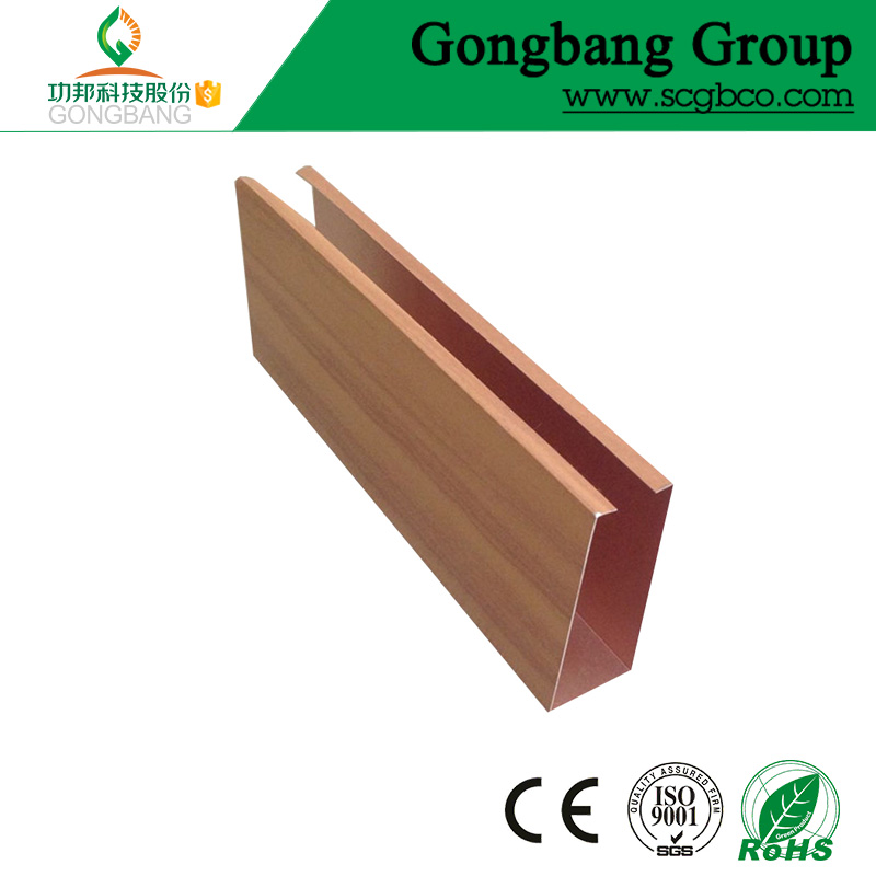 heat resistance material 0.5mm baffle aluminium cheap ceiling tiles 2x4 for building