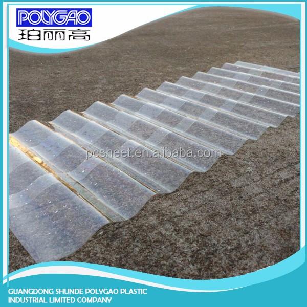 pc transparent en polycarbonate ondul t les de toiture en plastique pour effet de serre sun. Black Bedroom Furniture Sets. Home Design Ideas